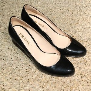 Prada - 2-inch heel black pumps in EU 38 / US 8